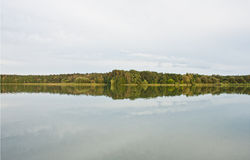 Trees and Lake Stock Photography