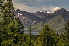 Trees, Lake, Mountains Stock Photos