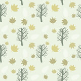 Trees and Leaves Background Royalty Free Stock Photography