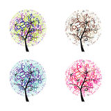 Trees with letters Royalty Free Stock Images