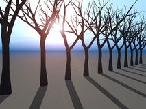 Trees Line on Horizon royalty free illustration