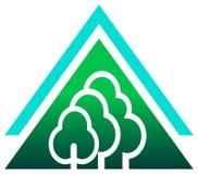 Trees logo Stock Photography