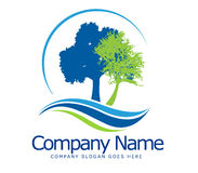 Trees Logo Concept. An illustration of a business company logo representing an abstract old tree Stock Photos