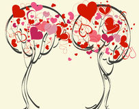 Trees in love Royalty Free Stock Image