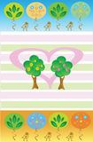 Trees in love Stock Images