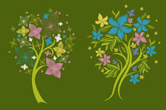 Trees made from decorative flower Stock Photography