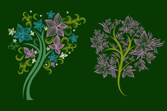 Trees made from decorative flower Royalty Free Stock Image