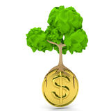Trees money Stock Photography