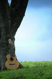 Trees n Guitar Royalty Free Stock Image
