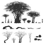 Trees and other nature elements Royalty Free Stock Photos