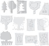 Trees on papers Royalty Free Stock Image