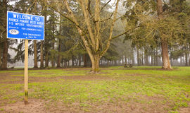 Trees and park on Highway stop areas. Stock Photography