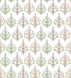 Trees pattern. Seamless pattern with little trees Royalty Free Stock Images