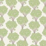 Trees pattern Stock Image