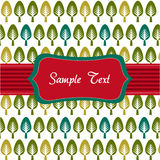 Trees pattern, floral card, floral background Royalty Free Stock Photography