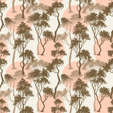 Trees pattern Stock Image