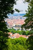 Through Trees on a Petrin Hill Royalty Free Stock Photo