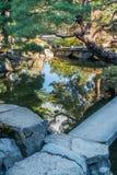 Japanes Garden Pond Reflection 2 Royalty Free Stock Photos