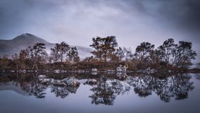 Lochan na-h Achlaise, Rannoch Moor, Scotland royalty free stock images
