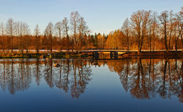 Trees and Reflection in Water Stock Photography