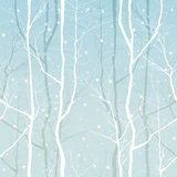 Trees seamless. Seamless ornament with winter trees Stock Images