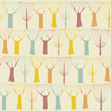 Trees seamless pattern in colors Stock Image