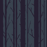 Trees seamless pattern Stock Images