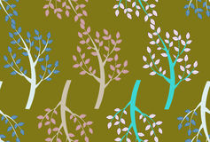Trees seamless pattern Stock Photography
