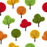 Trees seamless. The pattern of trees seamless, repeating.It can be used as decoration for fabrics, wallpaper, pattern for a variety of goods, items or for design Royalty Free Stock Images