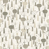 Trees seamless pattern tapestry in grey Royalty Free Stock Photography
