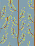 Trees seamless pattern. Trunk and leaf texture. Natural  b Royalty Free Stock Photography