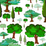 Trees Seamless Tile. Decoration Seamless tile with stylized trees Royalty Free Stock Photos
