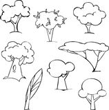 Trees set Royalty Free Stock Images