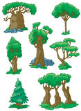 Trees set. #2,  illustration Royalty Free Stock Images