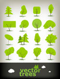 Trees set Stock Images