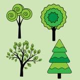 Trees set Royalty Free Stock Photos