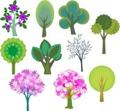Trees set Stock Image