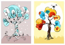 Trees set. Vector Illustration of a trees set Royalty Free Stock Photo