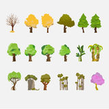 Trees Set -  Stock Image