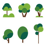 Trees set Royalty Free Stock Photo