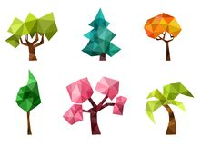 Trees set. Vector illustration with a colorful trees set Royalty Free Stock Photo