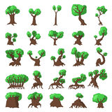 25 Trees set Royalty Free Stock Photo