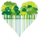 Trees shaped heart Royalty Free Stock Photos