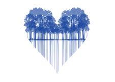 Trees shaped heart Stock Photo