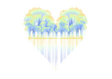 Trees shaped heart Stock Images
