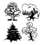 Trees silhouette Royalty Free Stock Image
