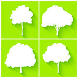 Trees silhouette set vector Stock Photos