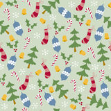 Trees and Stockings Seamless Pattern Royalty Free Stock Photo