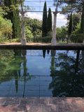 Reflections on a pool Stock Photography