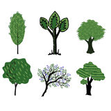 Trees vector collection Royalty Free Stock Photo